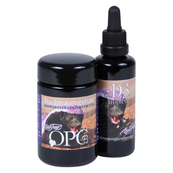 Robert Franz - Set OPC-Kapseln (60 Stück) + Vitamin D3 Tropfen (50 ml)