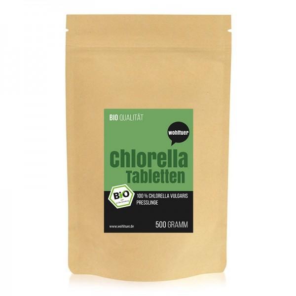 Wohltuer - Bio Chlorella Tabletten Packung