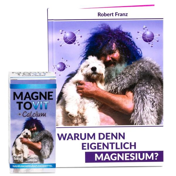"""Robert Franz - Magnetovit + Calcium (250 ml) und Buch """"Warum denn eigentlich Magnesium?"""""""