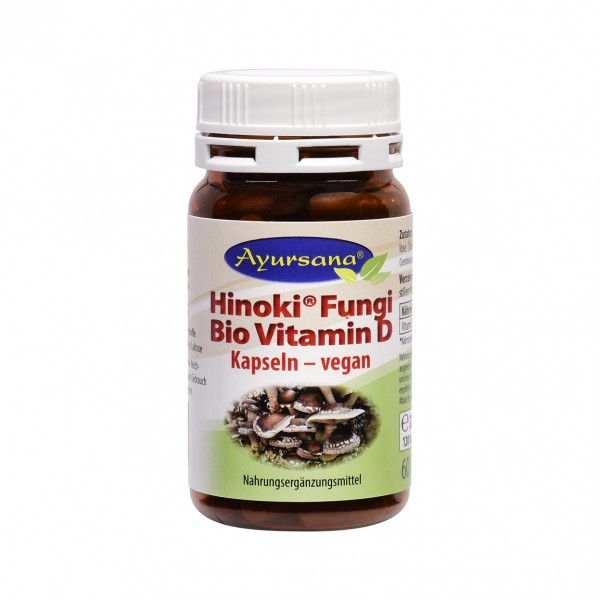 Ayursana - Hinoki Fungi vegane BIO Vitamin-D-Kapseln (120 Stück)