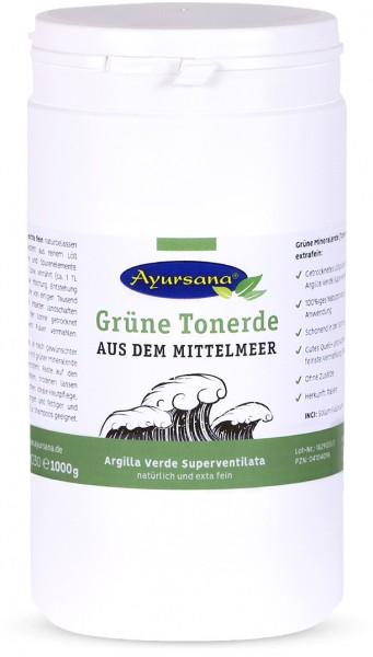 Ayursana - Grüne Mineralerde (Tonerde) extra fein (1.000 g)