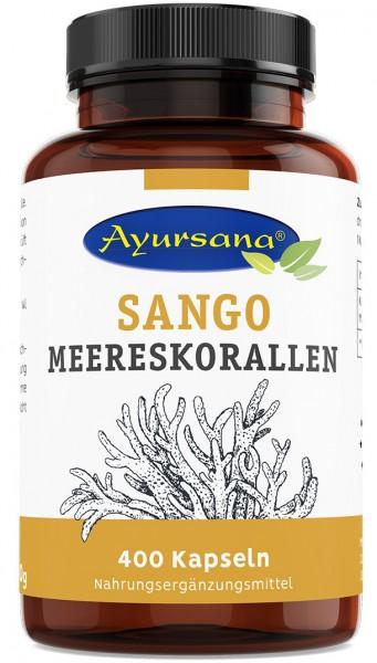 Ayursana - Sango-Korallen-Kapseln mit 2:1 Kalzium und Magnesium (400 Stück)