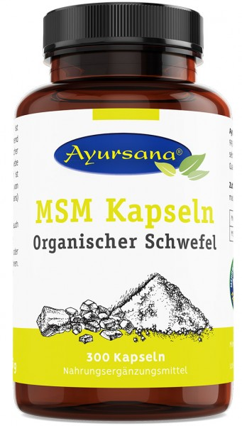 Ayursana - MSM Kapseln Organischer Schwefel (300 Kapseln)