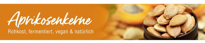 Aprikosenkerne, fermentiert, rohkost, vegan und natürlich