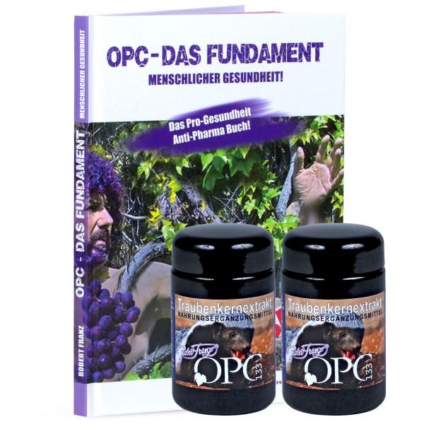 """Robert Franz - Set OPC-Kapseln (120 Stück) + Buch """"OPC - Das Fundament Menschlicher Gesundheit!"""""""