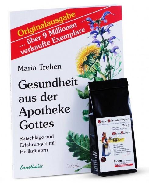 """Set Schwedenkräuter Ansatzmischung (90 g) & Maria Treben - """"Gesundheit aus der Apotheke Gottes"""