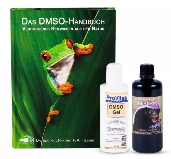 Mix Set: Robert Franz – DMSO (100 ml) & ProVitas – DMSO-Gel (125 ml) & DMSO-Handbuch
