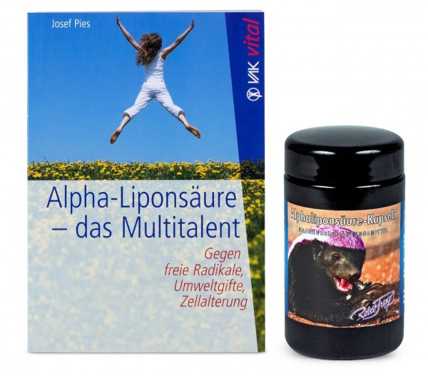Mix Set: Robert Franz - Alphaliponsäure (120 Kapseln) + Buch: Alpha-Liponsäure – Das Mulittalent