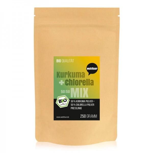 Wohltuer - Bio Kurkuma + Chlorella Mix (250 g)