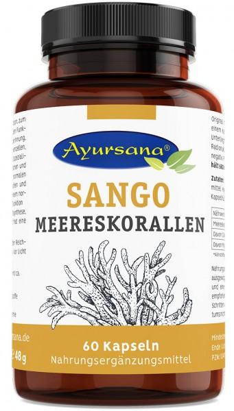 Ayursana - Sango-Korallen-Kapseln mit 2:1 Kalzium und Magnesium (60 Stück)