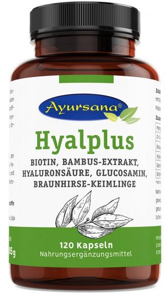 Ayursana - Hyalplus Kapseln mit Bambus-Silizium und Braunhirse (120 Stück)