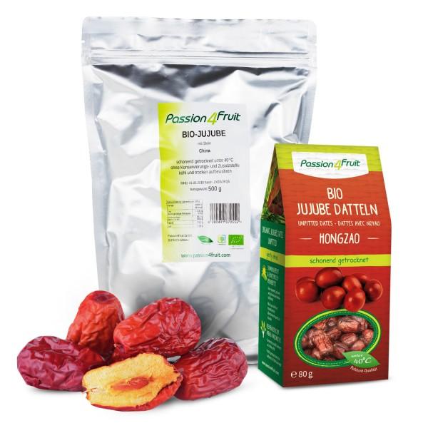 Bio Jujube rote oder chinesische Datteln HONGZAO Rohkost 500 g